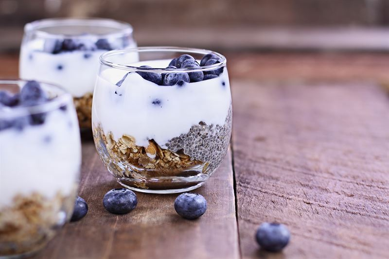 pudding chia, zdrowy, fit